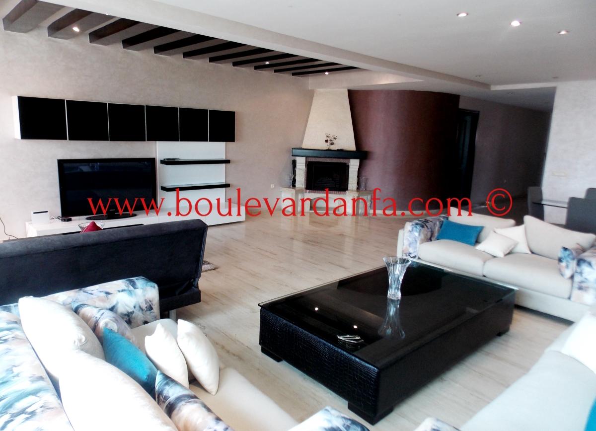 charmant appartement meubl de 145m louer maarif extension. Black Bedroom Furniture Sets. Home Design Ideas