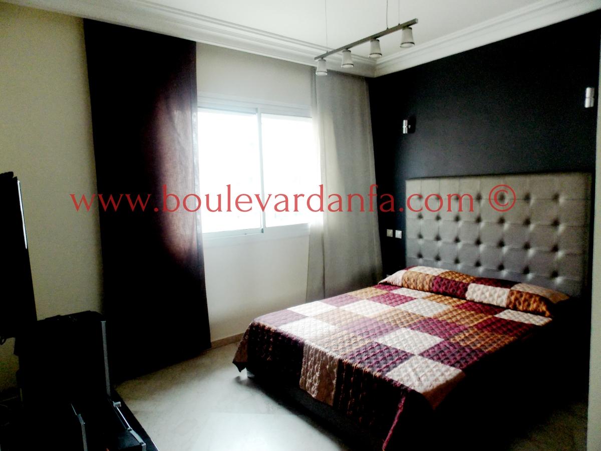 charmant appartement meubl de 113m sur boulevard bir anzarane. Black Bedroom Furniture Sets. Home Design Ideas