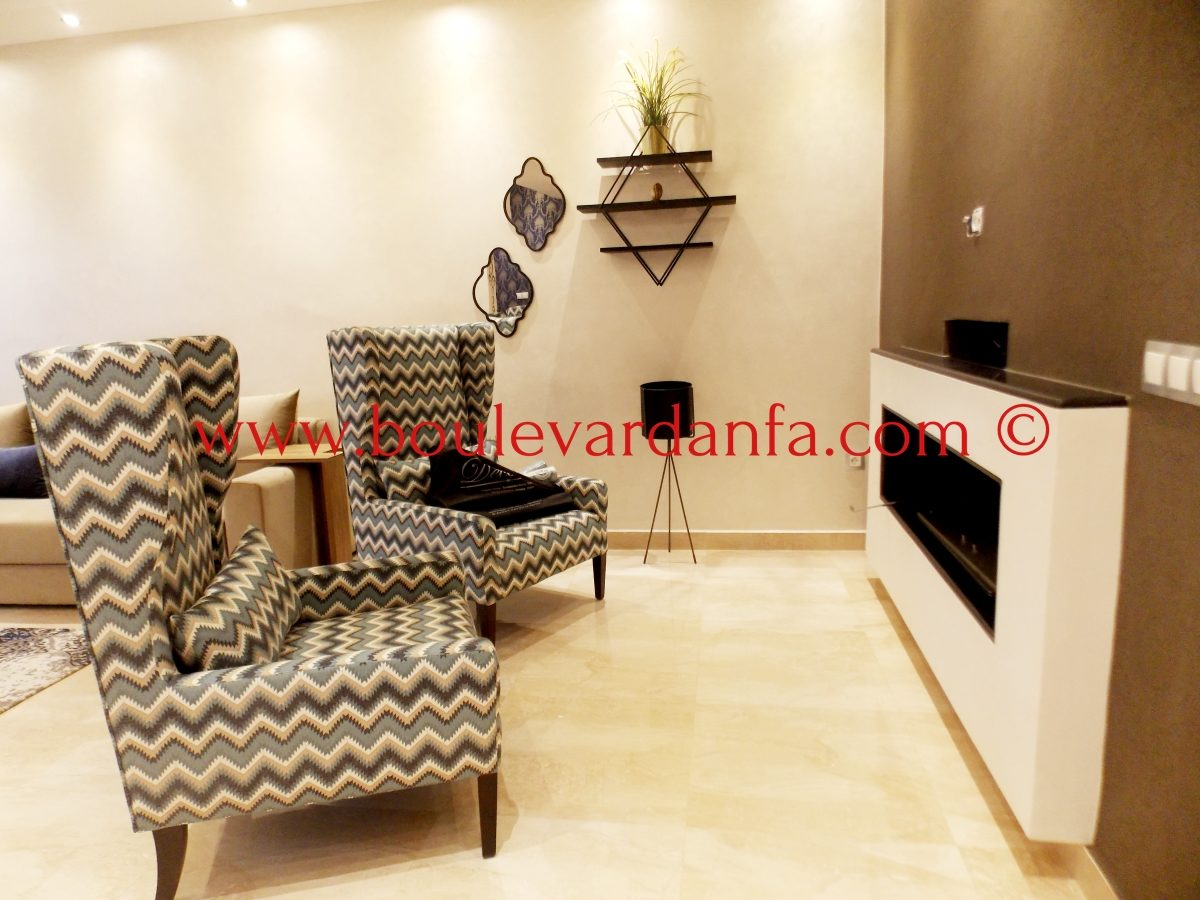 Luxury 104 Sq M Furnished Apartment For Rent In Ain DiabAin Diab ,  Casablanca